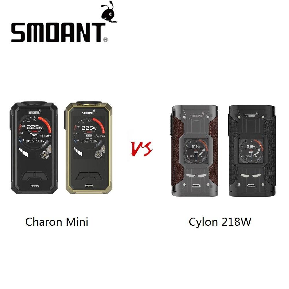 100% Original Smoant Charon Mini 225 W MOD Vs Smoant Cylon 218 W MOD No 18650 batterie boîte Mod haute puissance Cigarette électronique
