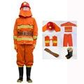 Combate A Incêndios Terno Roupas de Segurança À Prova de Fogo Chama-os Equipamentos das Estações De Fogo retardante de Vestuário de Protecção Em Miniatura 6 Peças Terno