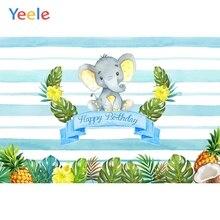 Yeele Elephant Leaves Baby Boy Children Birthday Party Photography Backgrounds Custom Photographic Backdrops For Photo Studio