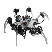 18DOF Aluminium Hexapod Spider Six Legs Robot Kit 18pcs MG996R Servos 32CH Controller Full Set For