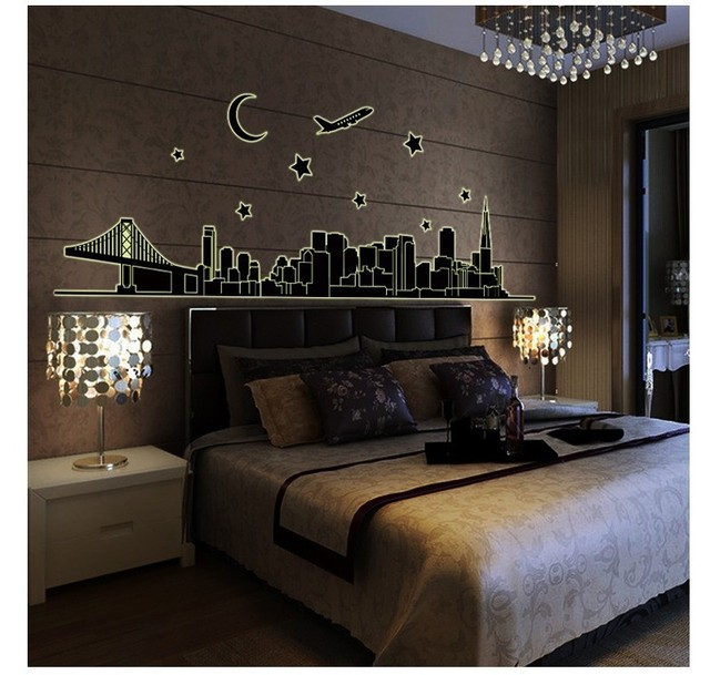 Glow in the dark london kids bedroom wall stickers princess love retro home decor wall shelf 3d Decorative wall shelves for bedroom