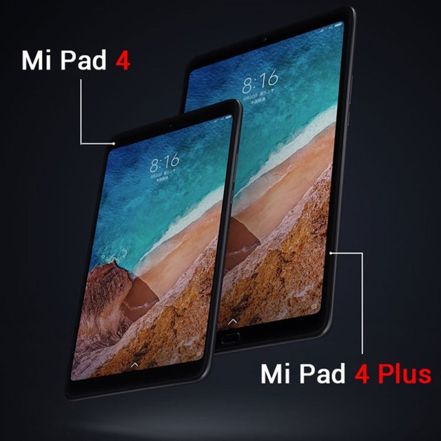 Xiaomi Mi Pad 4 plus Tablets 660 AIE 8'' 16:10 Screen Tablet 13MP Rear Camera Mi Pad 4 plus 4+64GB Multi-language androed 8.0