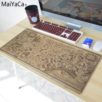 MaiYaCa 700*300mm Old Map mouse pad gaming mouse pad large cartoon Anime rubber mouse pad Keyboard Mat Table Mat