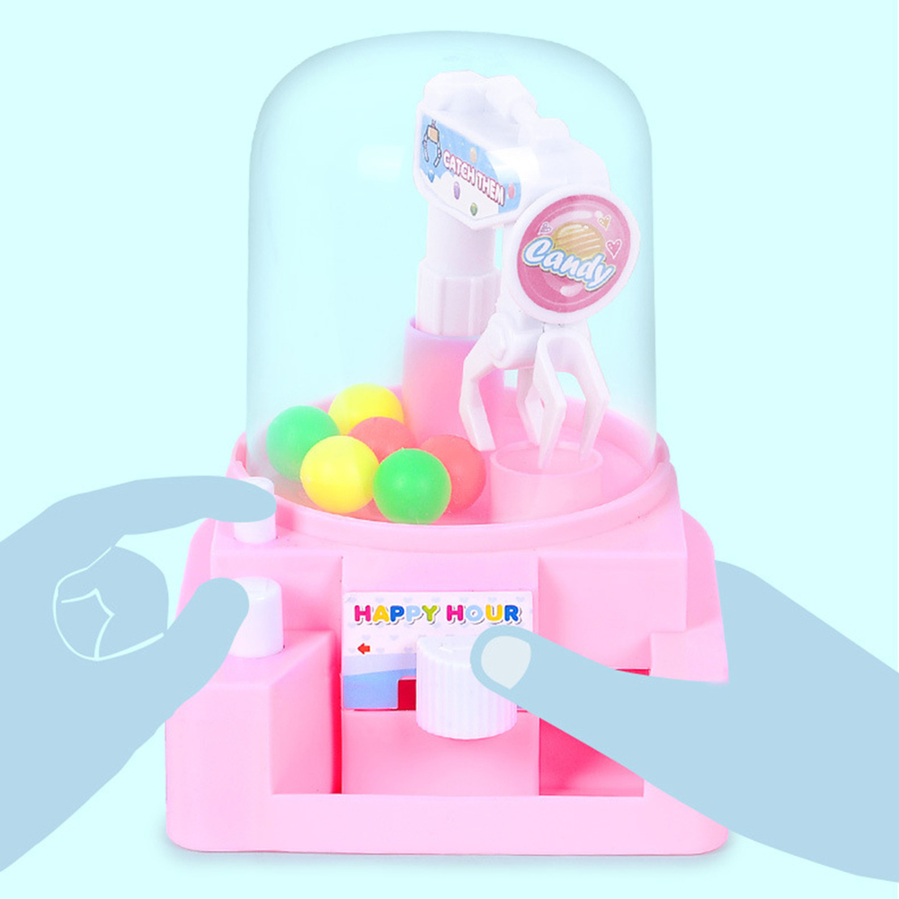 Early Educational Pretend Playing Toys Mini Catching Balls Machine Boys Girls Desktop Sport Game 13*10*12 cm Random Color image