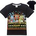 Camiseta meninos de cinco noites no do freddy freddy fnaf crianças t-shirt roupas para crianças camisetas verão 2 meninos roupas de banda desenhada topos
