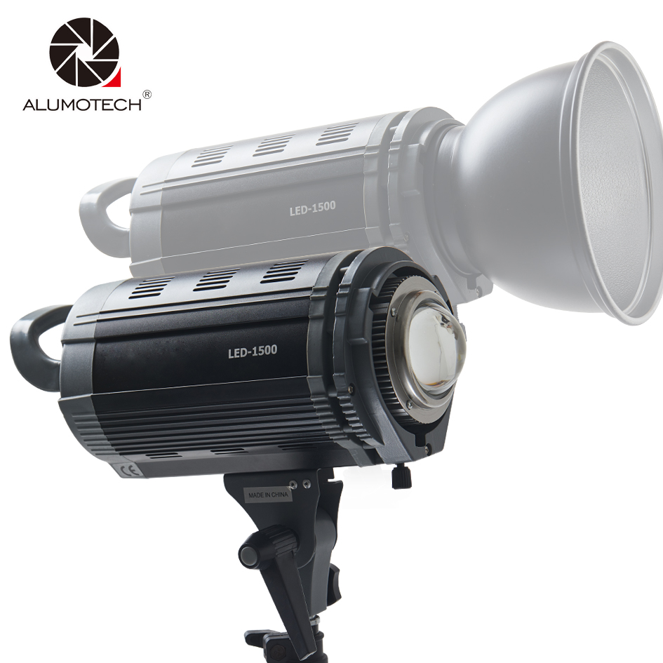 Alumotech 150W LED Dimming 3200K/5600K Flash Lighting Speedlite Strobe Lamp For photography Studio Camera