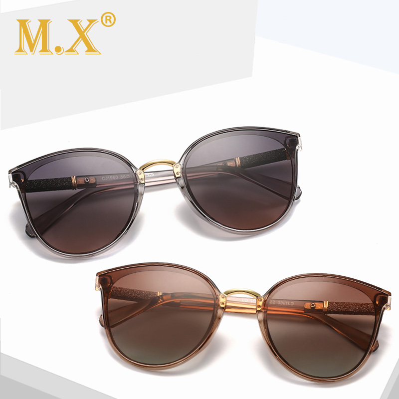 Mx Brand Design Cat Eye Polarized Sunglasses Women 2019 Polarized Sun Glasses Female Gradient Shades Oculos Feminino Uv400 S1960