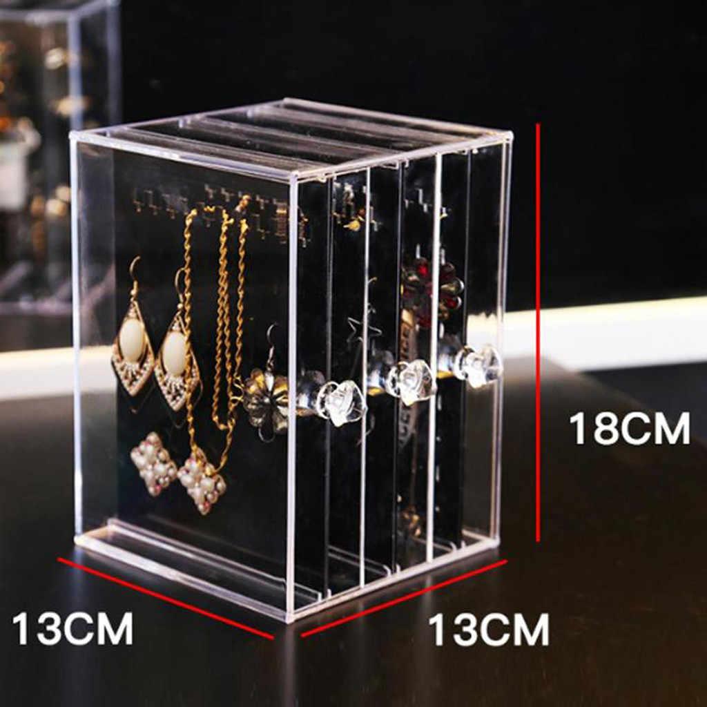 3-schichten Transparent Schmuck Display Regal Ohrringe Ohr Bolzen Display Rack Metall Schmuck Halter Stehen Veranstalter Schaufenster # 4Z