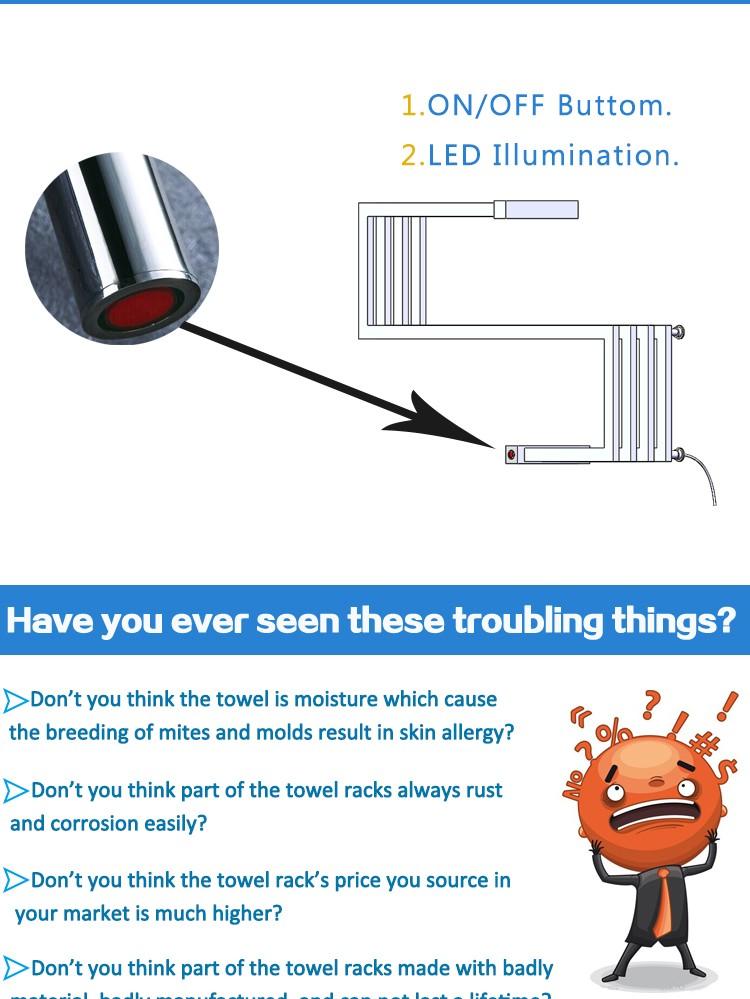 Edelstahl handtuchwärmer elektrische trocknen Handtuchwärmer halter ...