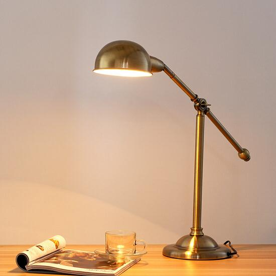 American Country Personality Creative Industrial Vintage Iron Table - Vintage table lamps for bedroom