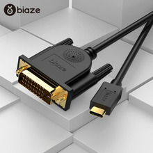 Biaze 4K HDMI Thunderbolt 3 USB Type C USB 3.1 to DVI Converter Adapter Cable for Apple Macbook pro 1.8M 3M USB-C equipped apple thunderbolt 3 usb c на thunderbolt 2