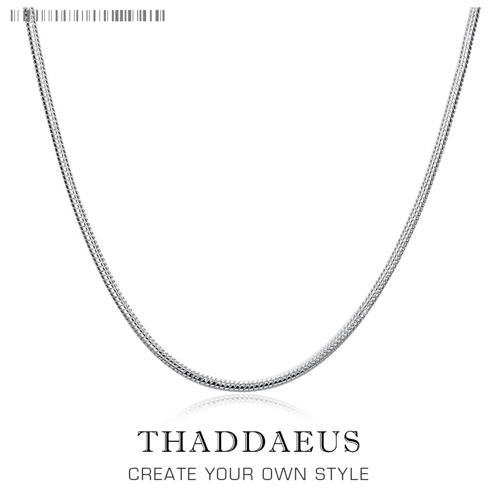 3mm Snake Chain Necklace,2017 Romantic Ts Glam Fashion Jewelry Thomas Style Soul 925 Sterling Silver Bijoux Gift For Men Women men 925 sterling silver necklace with 4 mm classic round snake chain necklace the punk style silver ornament gift for boyfriend