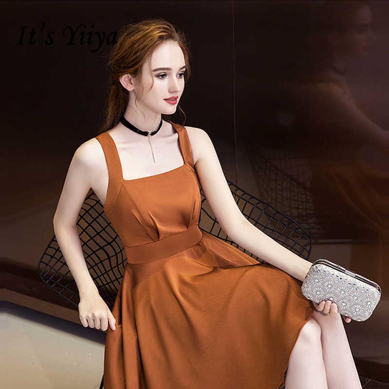 ce1adf979d5 Это YiiYa коктейльное платье 2018 вечерние без рукавов Spagheetti на  высоком низкая модные дизайнерские Элегантные