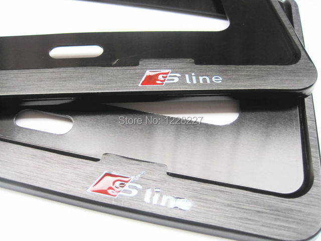Chrome Metal License Plate Frame Pair Fit For Audi - Audi license plate frame