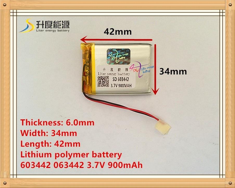 603442 063442 3.7V 900mAh Lithium polymer battery rechargeable lipo battery цена