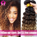 8A Ombre Mink Brazilian Deep Wave virgin hair weave 3bundles Wet And Wavy  Brazilian Hair Water Wave deep curly weave Human Hair