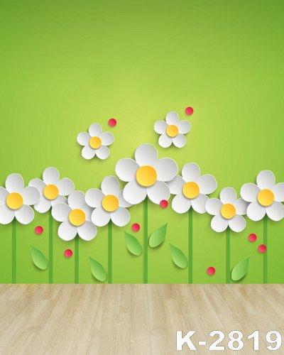 ФОТО Wooden Backgrounds Green Painted Wall 150*300CM Flowers Decor Baby Photo Photography Vinyl Backdrops Shooting foto studio