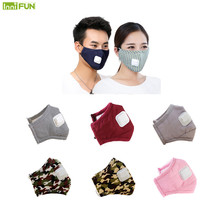 цена на New PM2.5 Anti Haze Air Face Cotton Mask Anti-dust Mouth Winter Cold-proof Breathing Mask Activated Carbon Filter Respirator