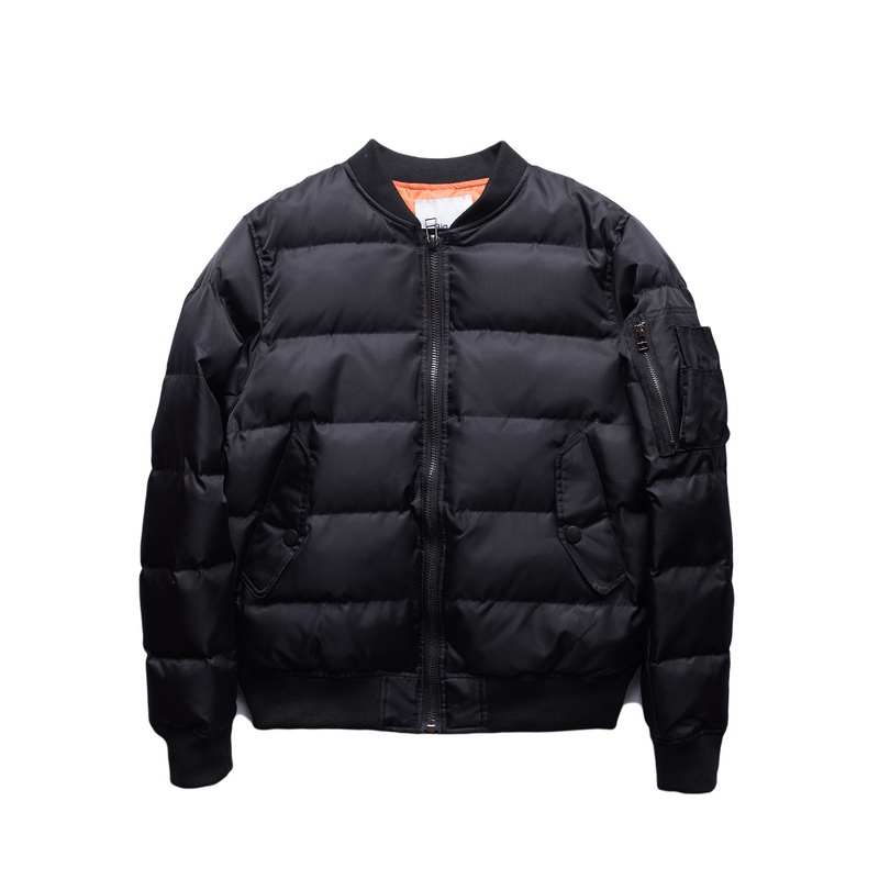 Idopy Men`s Winter MA-1 Bomber Jacket Shoulder Pockets Street Style Warm Padded Pilot Flight Jacket and Coat