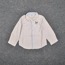 Shirt Embroidery Long-Sleeved Children Pure-Cotton Cartoon Coat Puppy Luck-Boy College