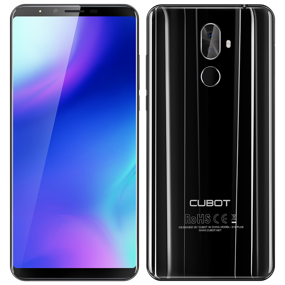 CUBOT X18 Plus 4G Phablet Smartphone Android 8.0 5.99 pouces MTK6750T OctaCore 4 GB + 64 GB 4000 mAhBattery 20.0MP + 2.0MP DualRear Caméra