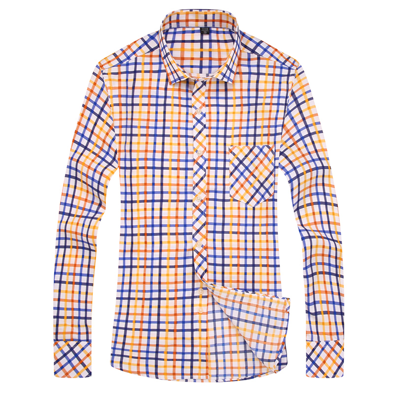 2017 casual fashion font b shirt b font font b men b font mans long sleeved