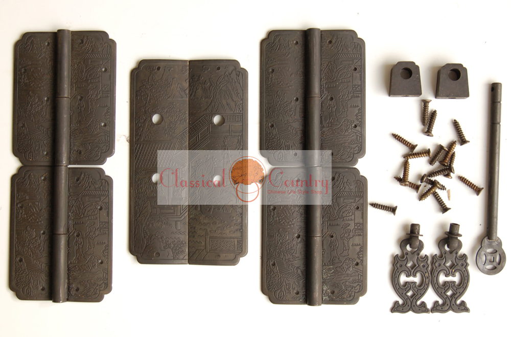 Antique Chinese Cabinet Bookcase Brass Hardware set for Hinge Handles Pull  Locking Pin(China ( - Online Get Cheap Locking Bookcase -Aliexpress.com Alibaba Group
