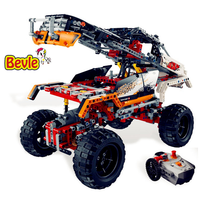 Lepin 20014 1386Pc Technic The 4X4 Crawler Motorized Model Building Blocks Compatible 9398 Classic Car-Styling Toys For Children