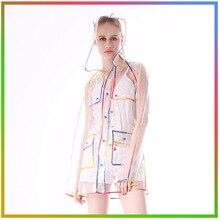 EVA прозрачный дождевик для прозрачной непромокаемая одежда с капюшоном для женщин дождевик на открытом воздухе водонепроницаемая куртка дождевик унисекс Женские плащи