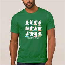 Custom Made Crazy Interesting T Shirt Mens Chicken Yogas Great Men's T-Shirt Mens Summer Big Sizes Gents Tee Shirts Top Quality