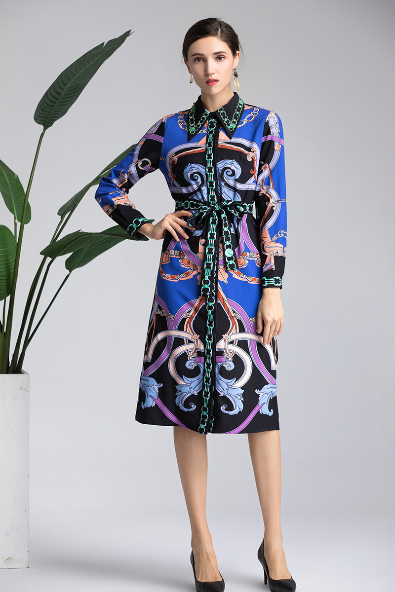 4291e9be2e5a9c Frühling Bilt 2019 Eleghant Vestido Sommeramp  Kleid Diamanten Luxuriöse  Frauen Casual Drucken Blume Miuximao Qualität Mit Hohe j4R5LA