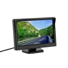 5 pulgadas a Color TFT LCD de Coches Mini Monitor de Visión Trasera Aparcamiento Pantalla del Monitor retrovisor Para VCD DVD Cámara de Marcha Atrás El Envío Libre ~