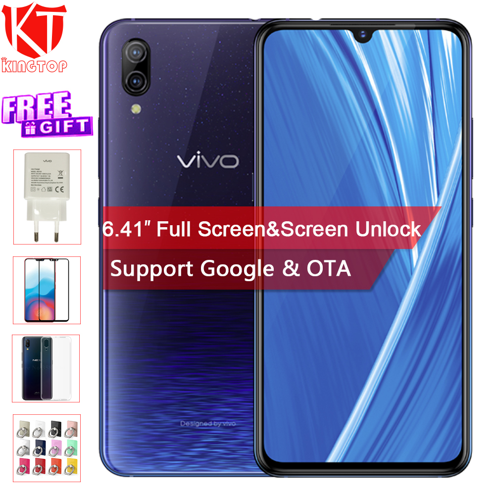 Original VIVO X23 Fashion version Mobile Phone 8GB 128GB Octa core 6.41 Full Screen Dual Rear Camera Android 12MP+13M 4G phone