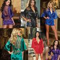 Interesse Da Noite Das Mulheres Dançando Vestido S M L XL Sexy Lingerie Camisola Pijamas Mulheres Sexy Lingerie Vestido frete grátis