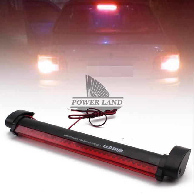 Third Brake Light Law Mini Cooper Suspension Diagram Car Tail Red 12v Stop Lamp Warning For Ford Dodge Totota