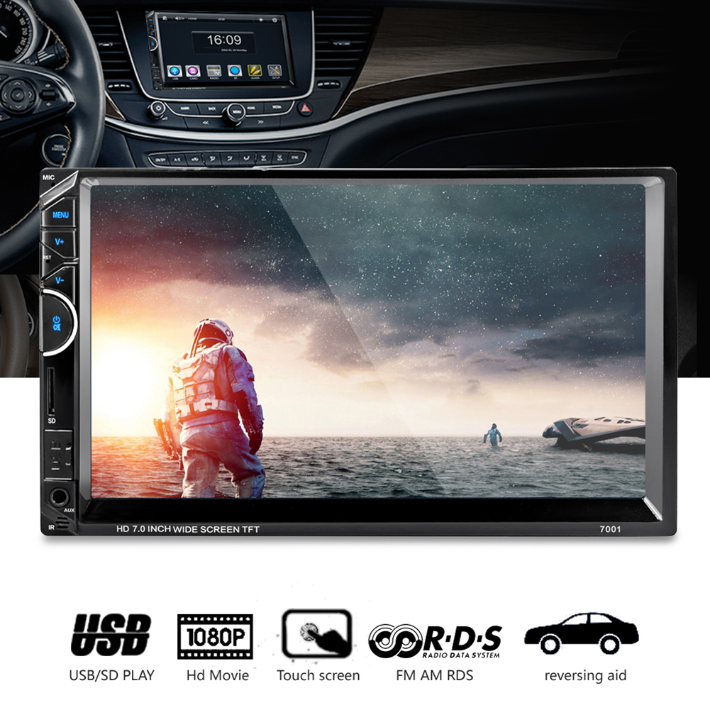 7 HD Bluetooth Handsfree Touch Screen Car MP3 MP4 MP5 Player 2Din In-dash RDS/AM/FM/Radio USB Car-charger USB/SD Card Play 7inch 2 din hd car radio mp4 player with digital touch screen bluetooth usb tf fm dvr aux input support handsfree car charge gps