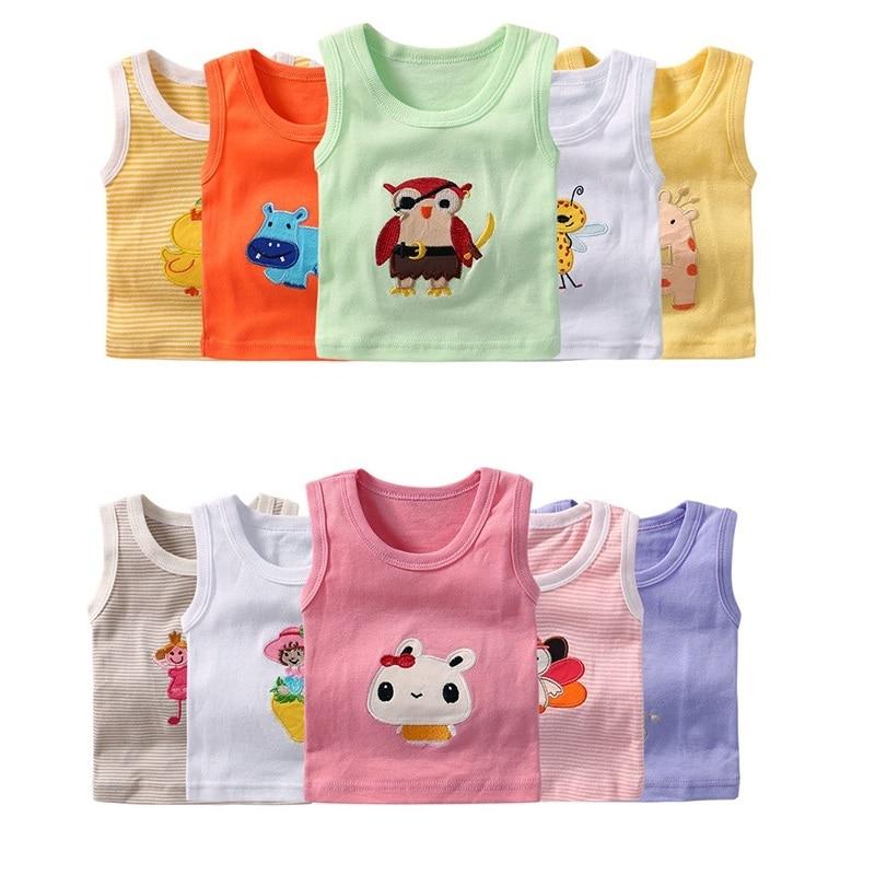 Boys and Girls 5-Pack Cotton Sleeveless T-shirt Tank Tops