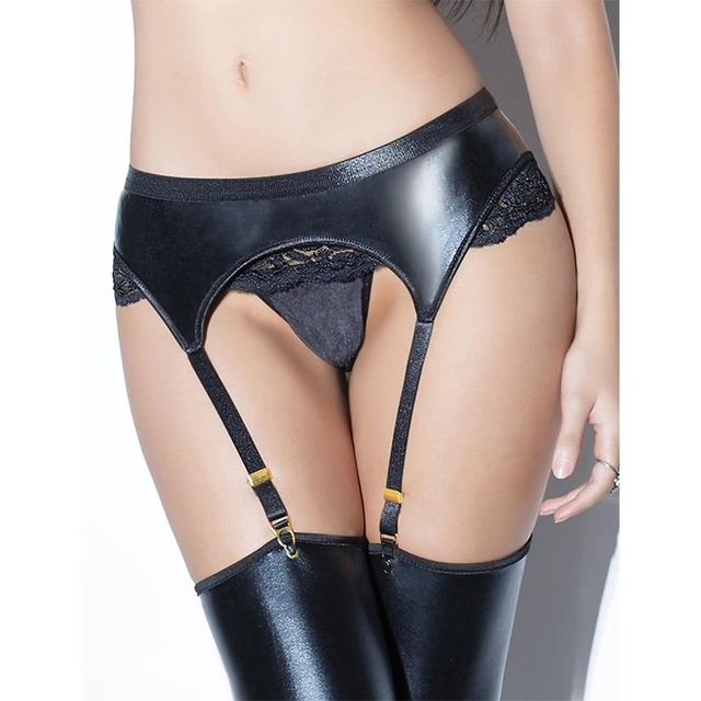 f3b7bd3238 Intimo Sexy Erotico Jartiyer Women Erotic Lingerie Leather Harness Faux  Leather Lace Garter Belt P5151 Ligueros Sexi Para Mujer