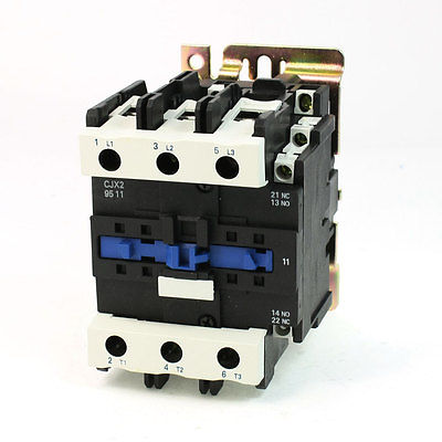CJX2-9511 AC Contactor 125A 3 Phase 3-Pole NO 24V 50/60Hz Coil