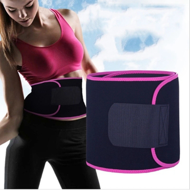 Fitness Sports Exercise Waist Support Pressure Protector Belly Shaper Thin Adjustable Belt Training Waistband For Women
