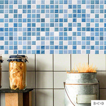 Self Adhesive Mosaic Tile Sticker for Kitchen Backsplash Bathroom Wall Tile Stickers Decor Waterproof Peel&Stick PVC Tiles Hot shell mosaic mother of pearl natural colorful kitchen backsplash tile bathroom background shower decor luster wall tile lsbk1005