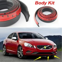 Auto Car Front Lip Deflector Lips Skirt For Volvo S60 S60L / Body Chassis Side Protection / Spoiler Lip Spliter Valance Surround