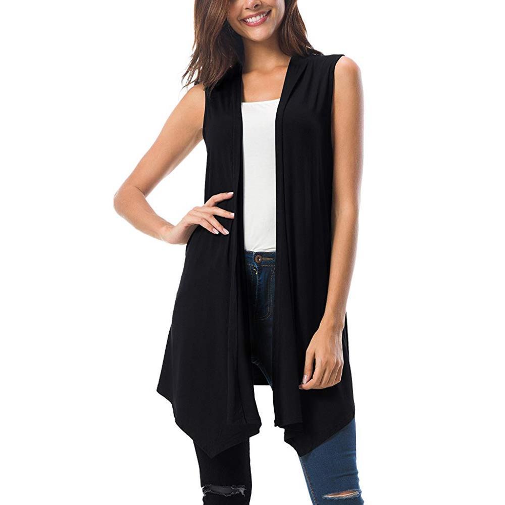 7ce5af0e1730 Women Vest Spring Plus Size Open Stich Coat Jacket Vest Jackets Irregular  Sleeveless Knit Bat Shirt Cardigan Female Feminino New ~ Free Delivery June  2019