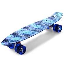 Skate longboard улица небо звездное дракон pattern совета скейтборд ретро полный