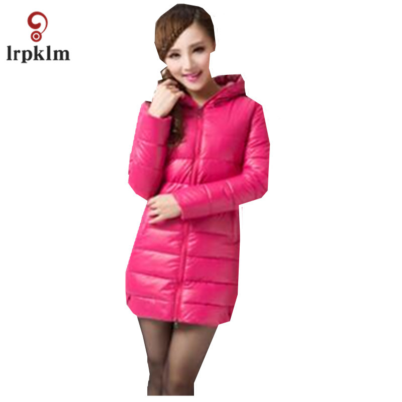 Women Winter Coat 2017  The Long Section Of Large Size Women Cotton PU Leather High - Quality Cotton Hooded Cotton Jacket LZ647 2017 korean version of the thickening of female workers in the long coat lambskin coat winter coat large size coat