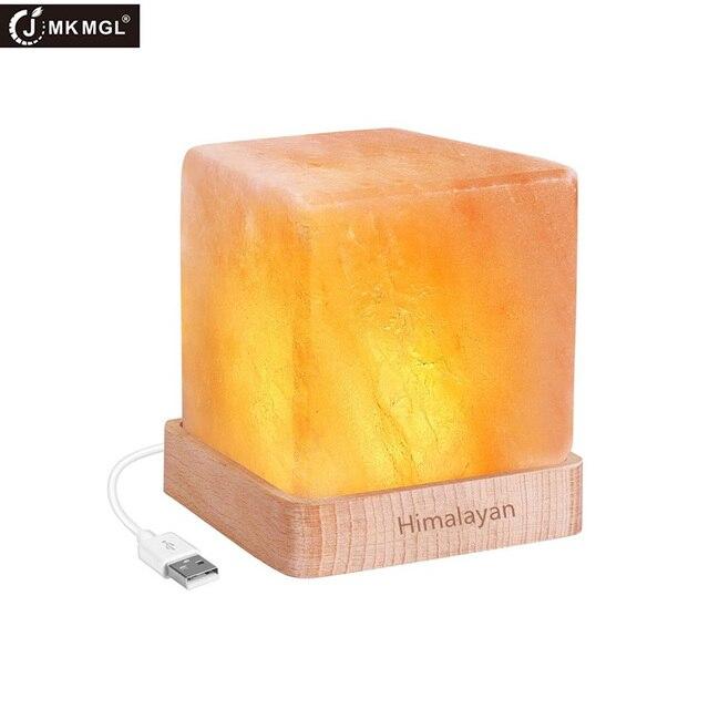 JMKMGL Square Salt Lamp Himalayan Natural Crystal Rock Salt Rock Lamps  Decoration Crystal Salt Lamp Air