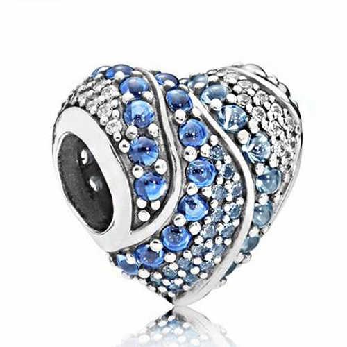 Maxi bunte bogen kristall lock liebe herzen diy bead fit Original Pandora charms silber farbe Armband schmuck für frauen bijoux