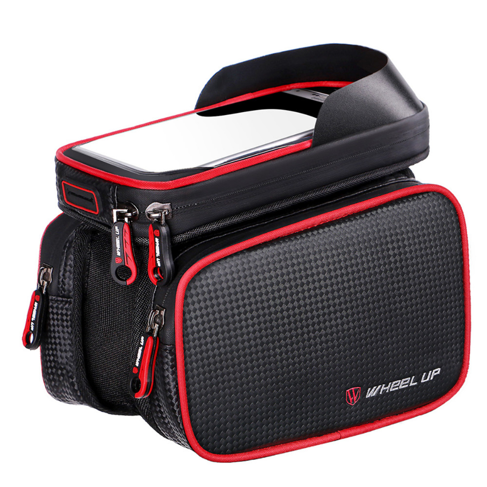 WHEEL UP Bike Bag Front Frame double Cell Phone Cycling Bag 6.2 Inch MTB Road Mountain Bicycle Case TPU Waterproof Touch Screen