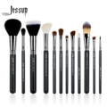 Jessup 12Pcs High Quality Pro Makeup Brush Set Foundation Contour EyeShader Blend Eyeliner Brow Powder Make Up Brushes Tool T129