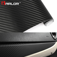 Car Styling 60 500cm DIY Waterproof 3D Car Carbon Fiber Vinyl Wrapping Foil Sheet Roll Decorative